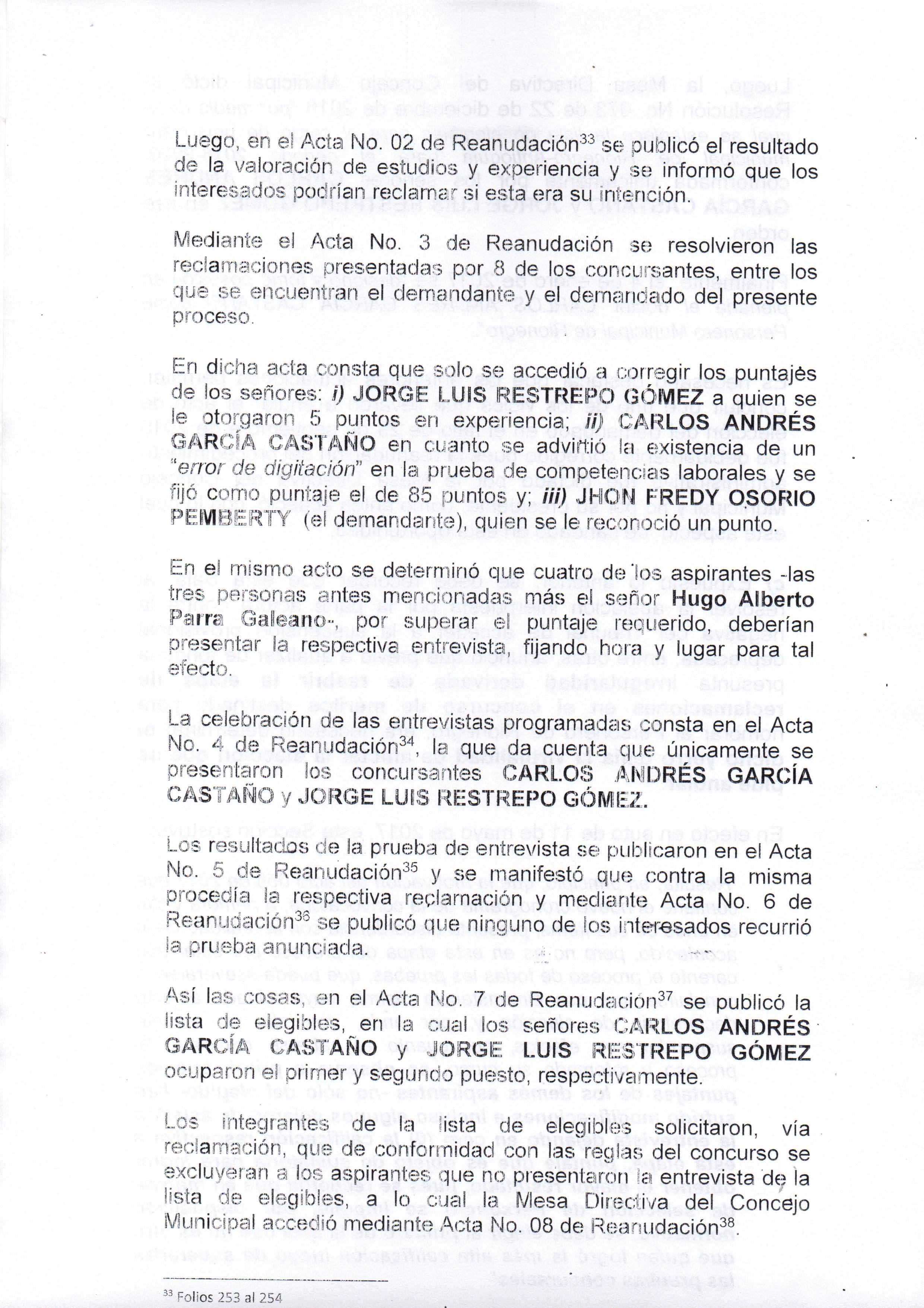 Reacciones del Concejo de Rionegro sobre elección del Personero ...
