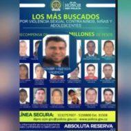 Cartel de los más buscados por abuso sexual en Colombia. Músico de Sonsón figura en la lista. Casa por cárcel.