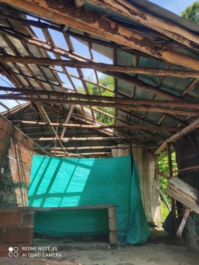Huracán en Cocorná dejó sin casa a cuatro familias, cinco más tienen pérdidas parciales.