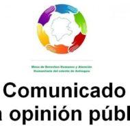 Mesa de Derechos Humanos del Oriente pide presencia de la Defensoría del Pueblo en la subregión por el alza de violencia.
