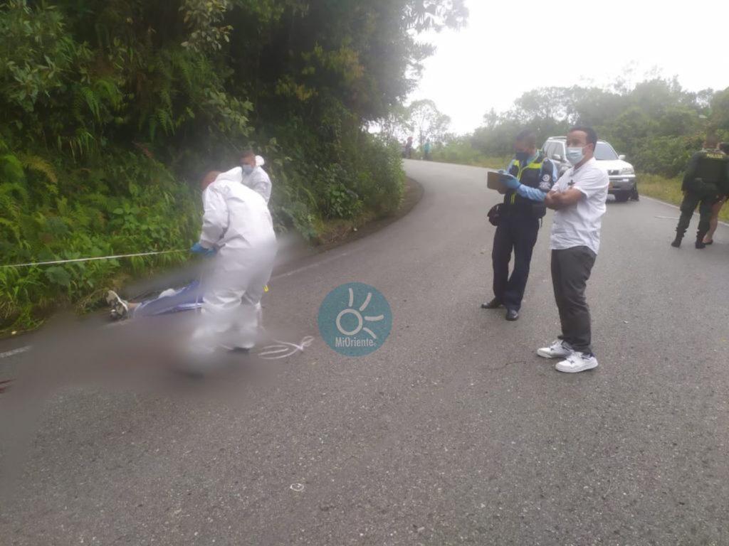 Menor de 15 años murió practicando gravity bike en la vía Sonsón - Argelia. Bicicleta.