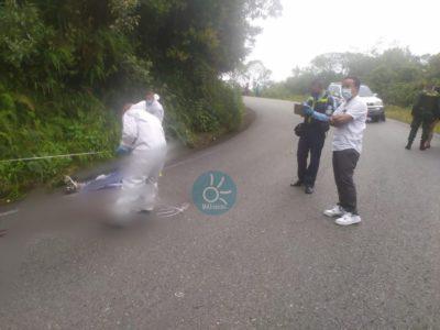 Menor de 15 años murió practicando gravity bike en la vía Sonsón - Argelia.
