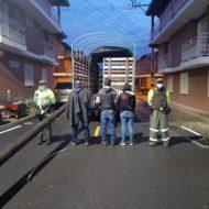 Policía frustró el robo de postes de energía en El Carmen de Viboral. Capturaron a tres sujetos.