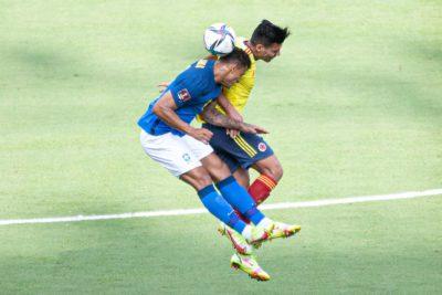 Partido selección Colombia ante Brasil.