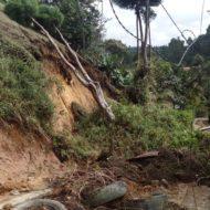 Deslizamientos en la vereda El Carmín de Rionegro.