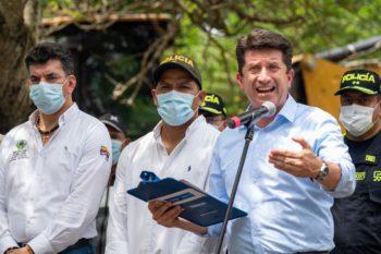 Diego Molano, ministro de Defensa, analizará las masacres que se han registrado en Antioquia.