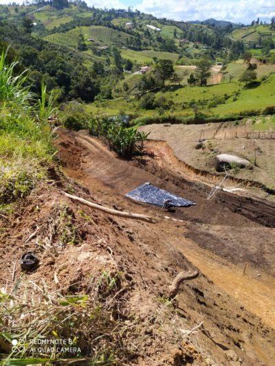 Construcción fue suspendida por afectar nacimientos de agua en Marinilla.